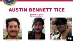 اف بی آی، بابت اطلاعات تازه از آستین تایس که سال ۲۰۱۲ در سوریه ناپدید شد، تا یک میلیون دلار جایزه می دهد.