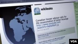 Halaman Twitter WikiLeaks. Situs WikiLeaks terus membocorkan kabel-kabel diplomatik rahasia Deplu AS.