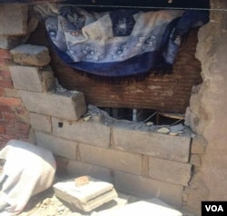One of the houses allegedly raided by Zanu PF activists.