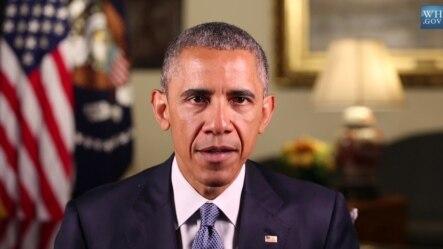 奥巴马总统发表每周例行讲话2015年5月