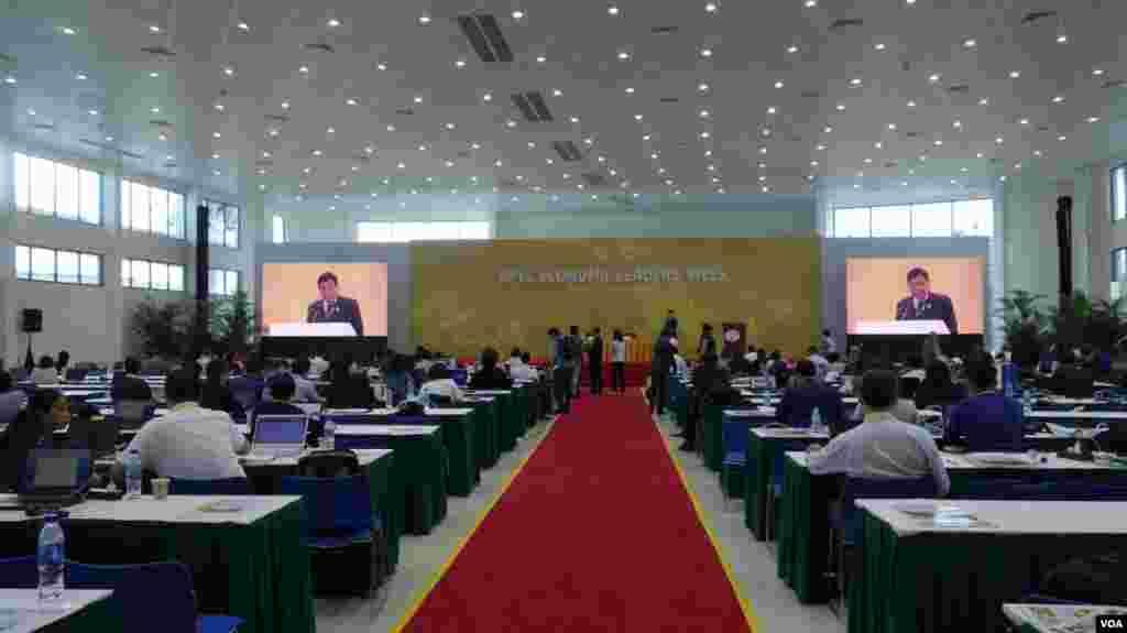 2017亚太经合会国际媒体中心 #APEC2017 (美国之音张佩芝拍摄)