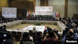 Foto de la última cumbre de Mercosur en Asunción, Paraguay en 2011. Ahora pese a se rmiembro fundador, el país se encuentra suspendido por su situación política.