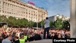 """Arhiva: Skup """"1 od 5 miliona"""" ispred Terazijske česme, 4. maja 2019, u Beogradu."""
