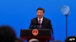 "Kineski predsednik Ši Đinping na Forumu: ""Inicijativa Pojas i put"" u Pekingu. 29. aprila, 2019. (Foto: AFP/Wang Zhao)"
