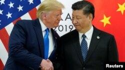အေမရိကန္သမၼတ Donald Trump နဲ႔ တ႐ုတ္သမၼတ Xi Jinping
