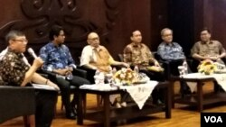 Seminar memperingati Hari Solidaritas Internasional Palestina yang digelar di Universitas Indonesia, Kamis (29/11). (Fathiyah/VOA)