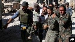 El gobierno sirio acusó a los rebeldes de utilizar armas químicas contra sus soldados.