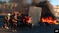 Antivladini demonstranti na ulicama u Bagdadu