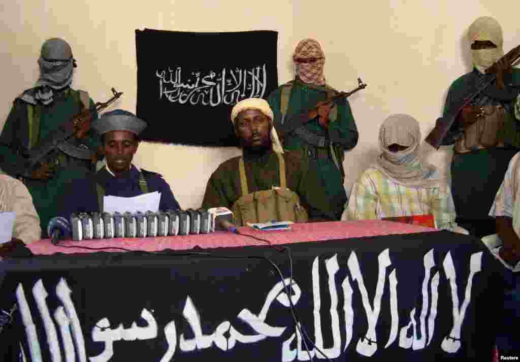 Somalia's Islamist jihadists emerged as merchants in the illegal trade of elephant ivory from the Horn of Africa, according to undercover investigators. Surrounded by well-armed bodyguards for a 2008 press conference, spokesman Sheik Muktar Robow Abu Mansur vowed increased attacks against a struggling goverment force and its foreign supporters.