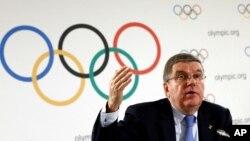 Presiden Komite Olimpiade Internasional (IOC), Thomas Bach (foto: dok). Pada Oktober 2015, IOC menskors Kuwait, setelah menuduh pemerintah campur tangan dalam komite Olimpiade nasional.