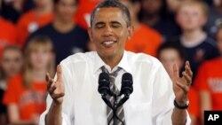 Obama habló este miércoles a los estudiantes de la Universidad de Virginia.