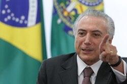 Presidente brasileiro preocupado com implicações da Odebrecht