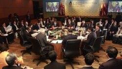 وزرای امور خارجه کشورهای آسیای جنوب شرقی در چهل و چهارمین نشست آسه آن، اندونزی، ۲۰ژوئیه ۲۰۱۱