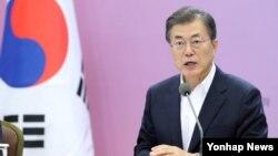 南韓總統文在寅資料照。