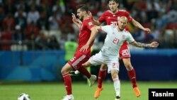 دیدار تیم های ایران و اسپانیا در جام جهانی ۲۰۱۸ روسیه