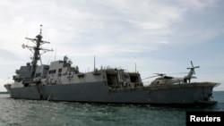 Tàu khu trục USS Mustin của hải quân Hoa Kỳ.