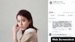 宋芸桦的脸书页面截图