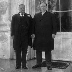 William Howard Taft with Theodore Roosevelt