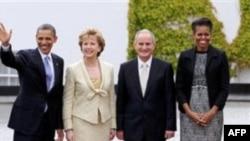 Барак Обама, Мэри Макалис и Мартин Макалис (президент Ирландии), Мишель Обама 23 мая 2011