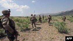 Американский армейский патруль в районе афгано-пакистанской границы