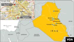 Peta wilayah Irak yang rawan serangan bom (Foto: dok). Kelompok bersenjata dilaporkan telah membunuh delapan milisi Suni anti al-Qaida di utara ibukota Baghdad, Irak (1/7).