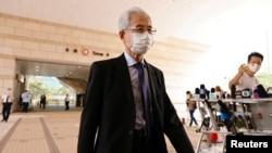 82岁的民主党创党主席李柱铭在西九龙法院,他被控参与未经批准的大规模集会。 (2020年9月18日)