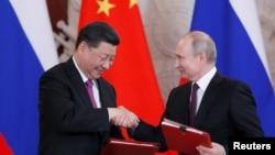 """焦点对话:习近平称普京为""""知心朋友"""",俄中关系进入黄金时代?"""