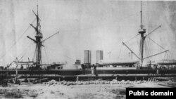 甲午战争中的中国军舰定远号(出处不详)