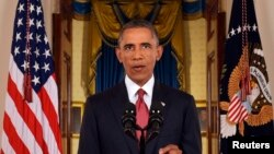 바락 오바마 미국 대통령이 10일 백악관에서 테러집단 ISIL을 분쇄하기 위한 전략을 대국민 연설을 통해 밝혔다.