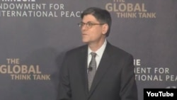 وزیر خزانه داری آمریکا، روز چهارشنبه در بنیاد کارنگی