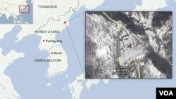 Lokasi uji coba nuklir Punggye-ri.