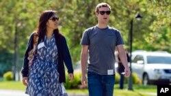 Марк Цукерберг и его жена Присцилла Чан