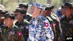 Bamwe mu basirikare ba Myanmar