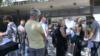 Red za treću vakcinu na Beogradskom sajmu, 20. avgusta 2021. godine (Foto: VOA)