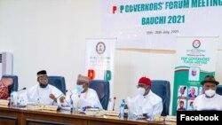 Taron da gwamnonin jam'iyyar PDP suka yi a Bauchi (Facebook/PDP)