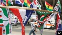 加納首都阿克拉街頭一名男子