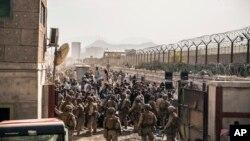 Američki marinci na aerodromu u Kabulu 21. avgusta