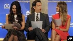 """Glumci Megan Foks, Ed Helms i Džesika Alba uoči objavljivanja nominacija za nagradu """"Zlatni globus"""""""