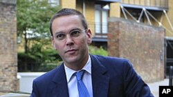 Chief executive of News Corporation Europe and Asia, James Murdoch, arrives at the News International headquarters in London, July 19, 2011 (file photo)