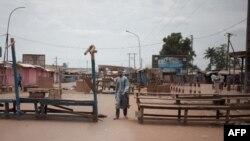 Le quartier à majorité musulmane PK5 de Bangui le 9 avril 2018.