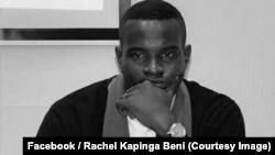 Carbone Beni, militant prodémocratie, arrêté avec ses camarades de lutte fin décembre la veille d'une marche des catholiques du 31 décembre à Kinshasa, RDC, 1er janvier 2018. (Facebook/Rachel Kapinga Beni)