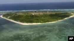 Salah satu pulau di Kepulauan Spratly di Laut Cina Selatan yang dipersengketakan Tiongkok dan Filipina (foto: dok.)