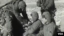 志願軍被俘 (視頻截圖)