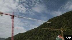 Стройка олимпийских объектов в Сочи идет полным ходом. Сентябрь 2010 года