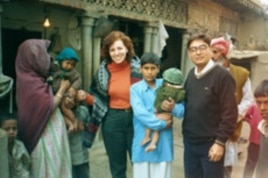 Ellyn Ogden and Dr. Baskar, WHO Surveillance Officer in Uttar Pradesh India, locate twins that were both affected by polio - a devastating blow to the family. Guidance was provided on how to care for the children to avoid deformities and where to go for a