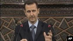 叙利亚总统阿萨德3月30日在议会发表演讲