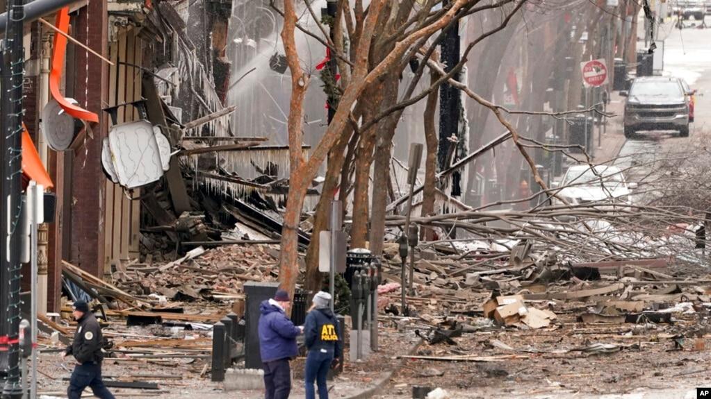 Hiện trường vụ nổ ở Nashville.