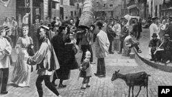 一幅有关在纽约的中国移民的画作