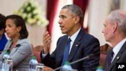 Obama alipokuwa nchini Kenya.