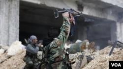 叙利亚政府军与反政府力量12月5号的战斗(资料照)